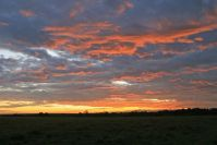Am letzten Morgen - Gewitterstimmung bei Sonnenaufgang